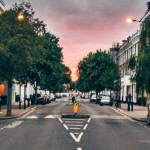 London street at twilight